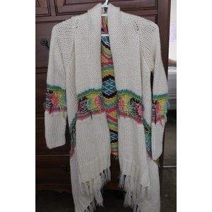 Multi colored cardigan sweater